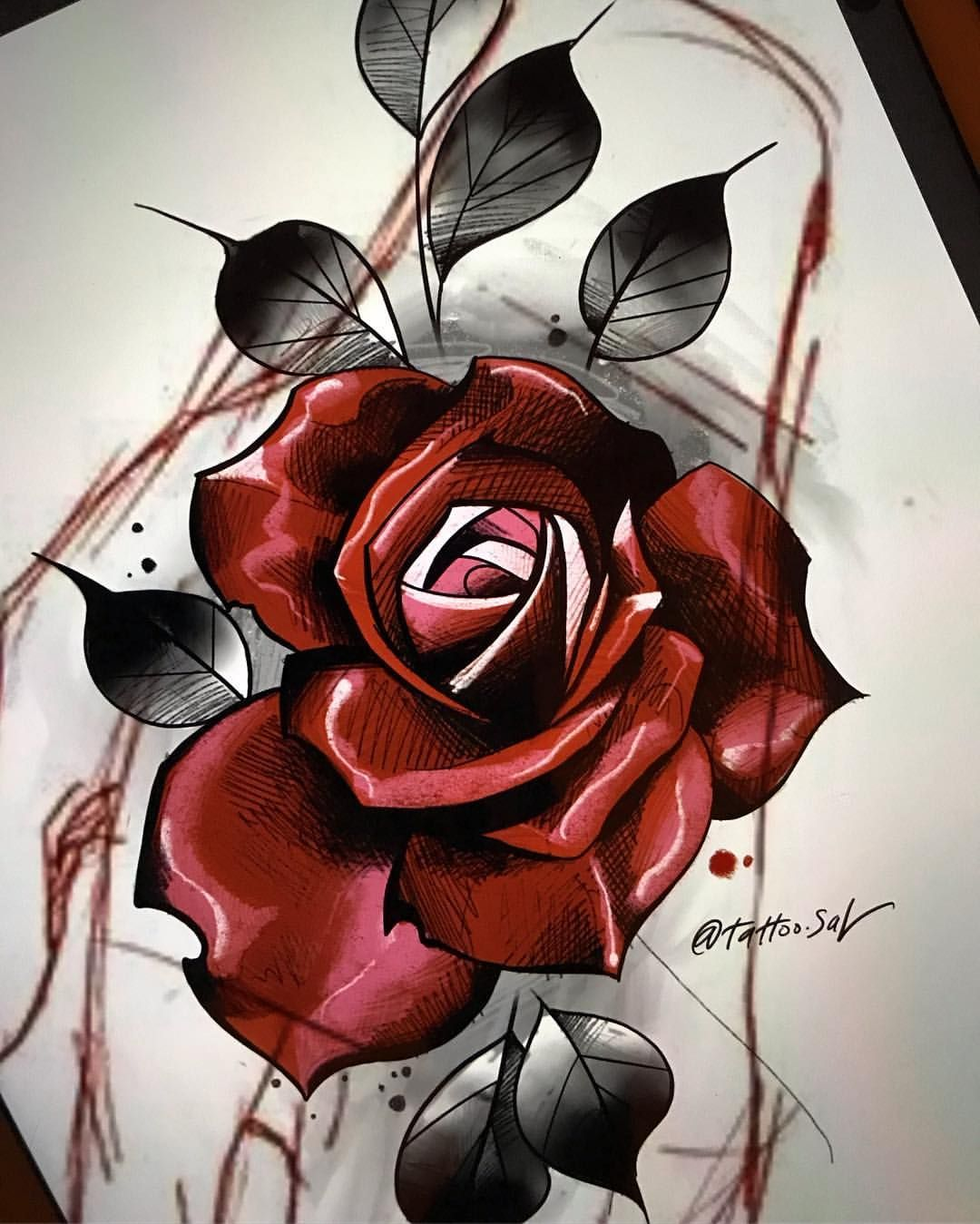 Tattooart Did This One Tonight I Couldn T Sleep Rose Art