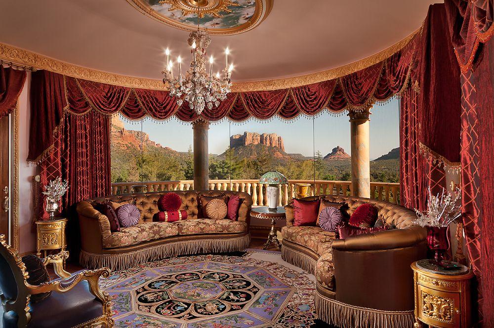 Solarium with a desert view, Mediterranean mansion...