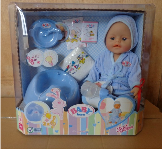 Free Shipping Baby S Zapf Artificial Baby Born Doll Bathing Drink Toilet Tears Training Doll Simulation Child Pla Baby Geboren Kinderspielhaus Zapf Creation
