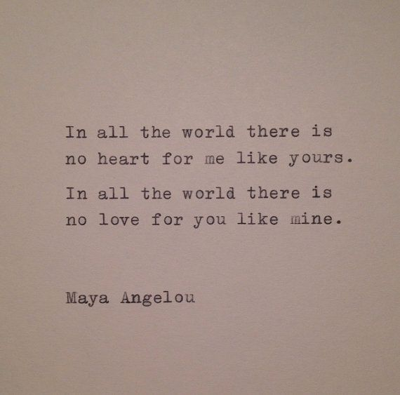 Maya Angelou Love Quote Hand Typed On Typewriter Etsy Maya Angelou Love Quotes Quotes Quotations