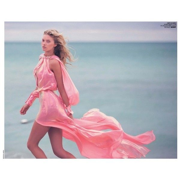 Stella Maxwell Brings the Heat in Swimwear Looks for Marie Claire... ❤ liked on Polyvore featuring elsa hosk