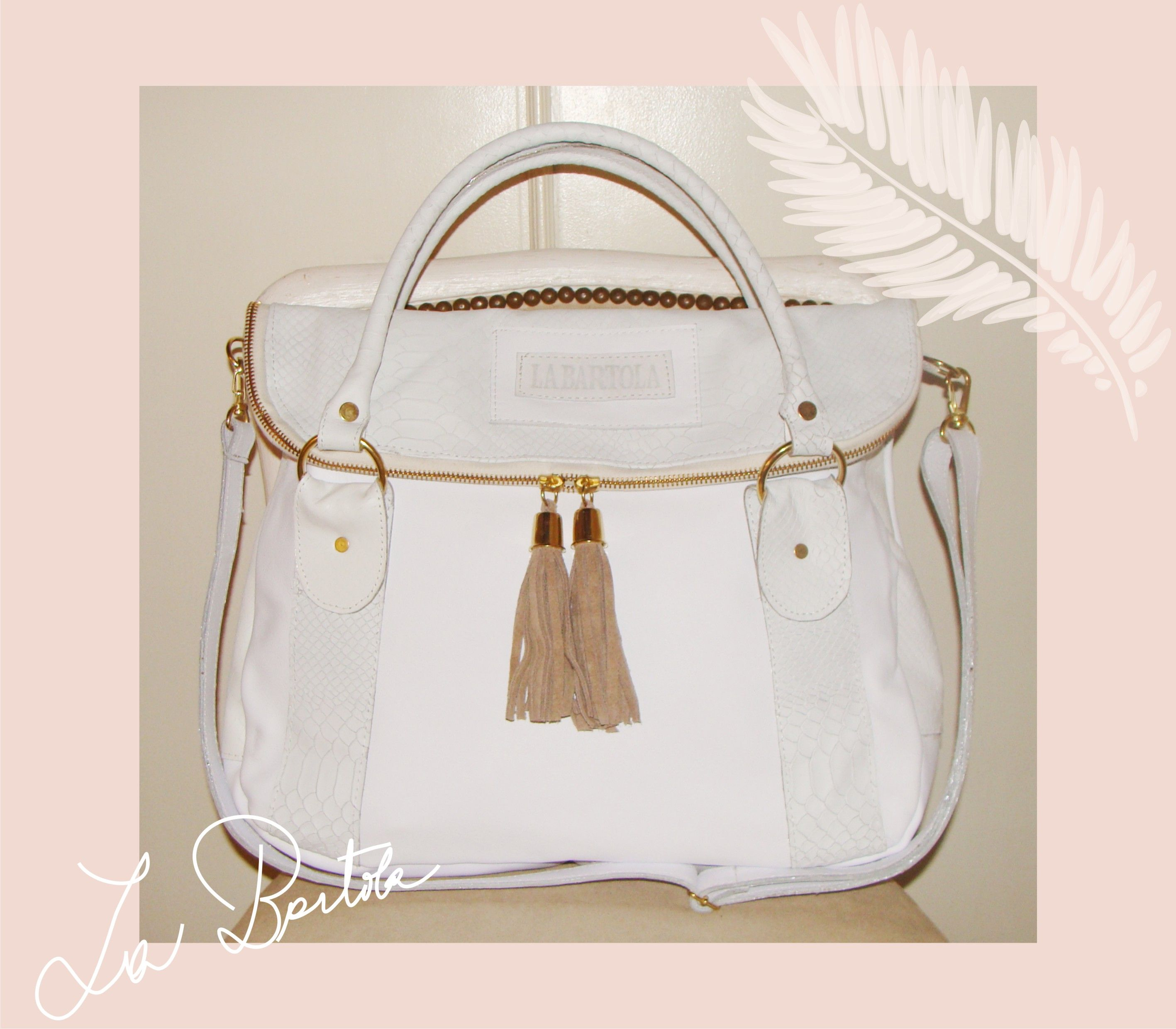 cartera borla white