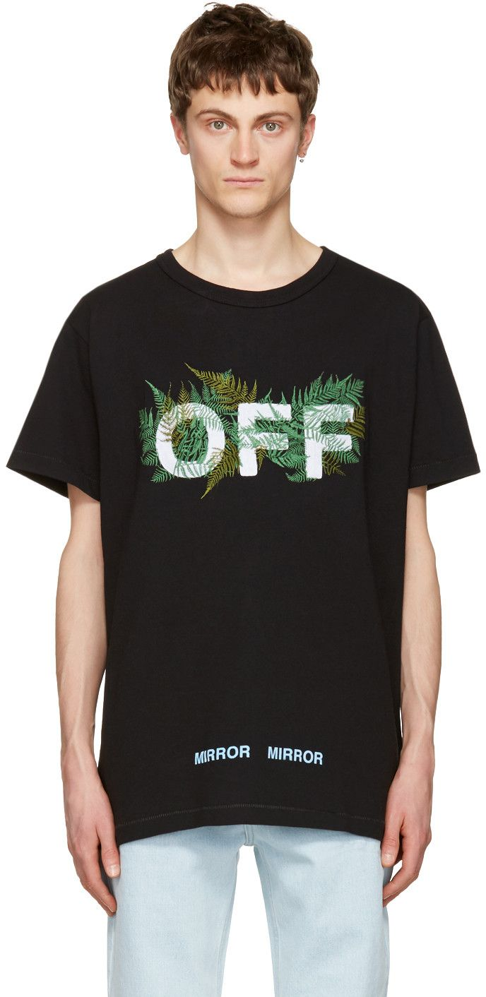 Off White Black Ferns T Shirt Off White Clothing Shirts