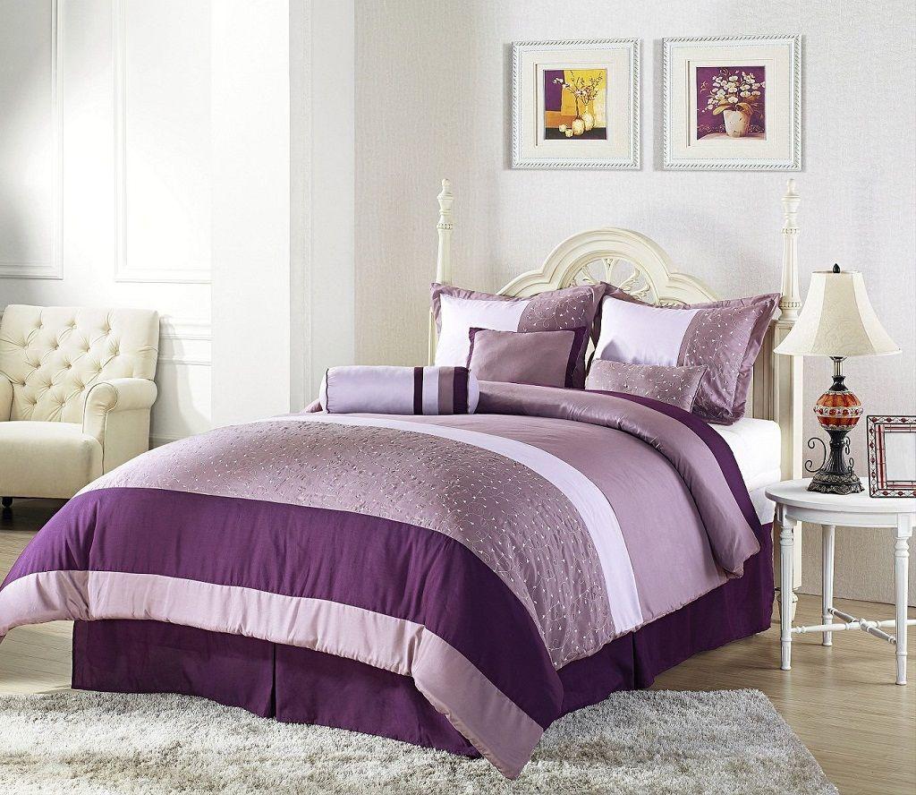 Beautiful Master Bedroom Decorating Ideas 43 I Like The: Purple And Cream Master Bedroom