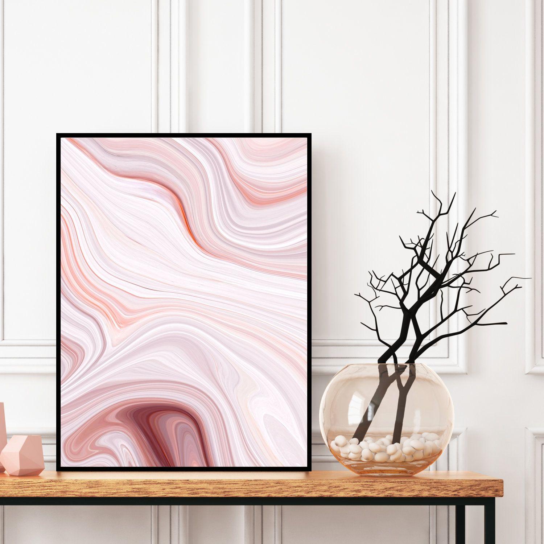 Agate Abstract Wall Art Pink Marble Decor Printable Digital Download Elegant Modern Art Granite Wall Art Geode Abstract Wall Art Marble Decor Pink Marble
