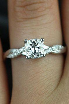 Elegant pcs Moissanite Ring Set mm Round Cut Moissanite Engagement Ring Set uArt Deco Half Eternity Wedding