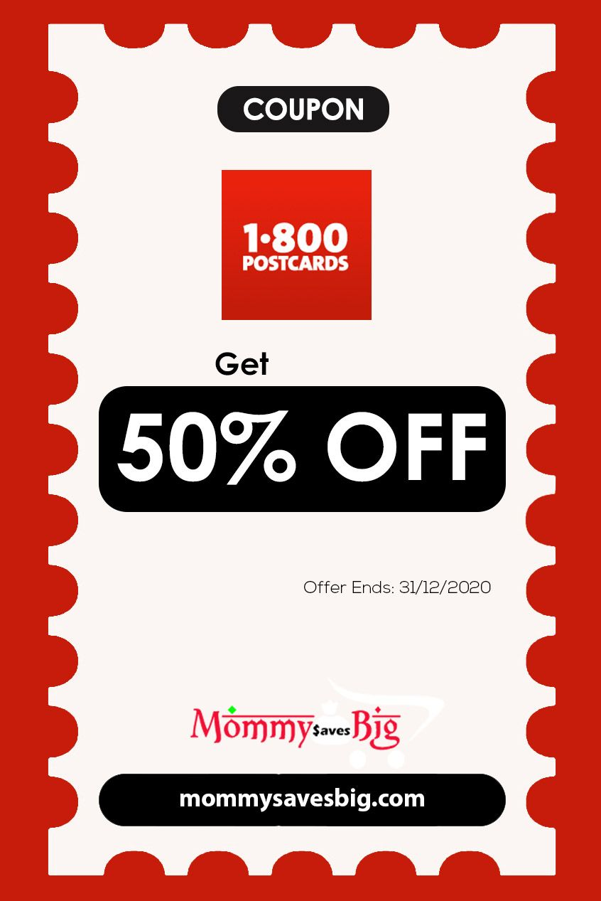 1 800 Postcards Get 50 Off In 2020 Money Saving Mom Mom Coupons Grocery Coupons