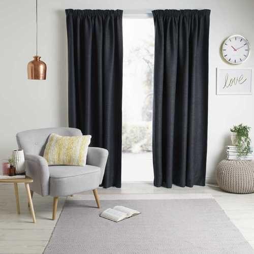 Gummerson Rylee Pencil Pleat Curtain Graphite 140 220 X 213 Cm