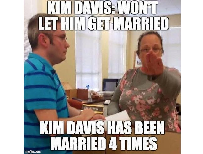 Kentucky county Clerk Kim Davis, who refuses to issue marriage - courtesy clerk