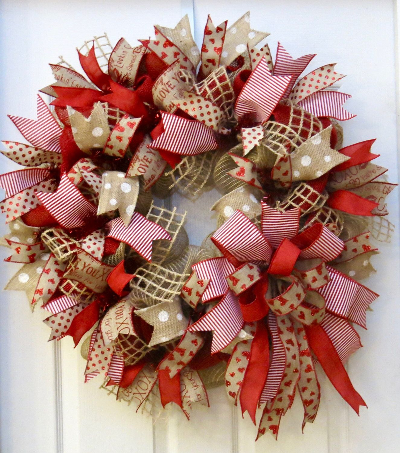 A Personal Favorite From My Etsy Shop Httpswwwetsycomlisting261989913Valentine Wreath Valentines Day Wreath