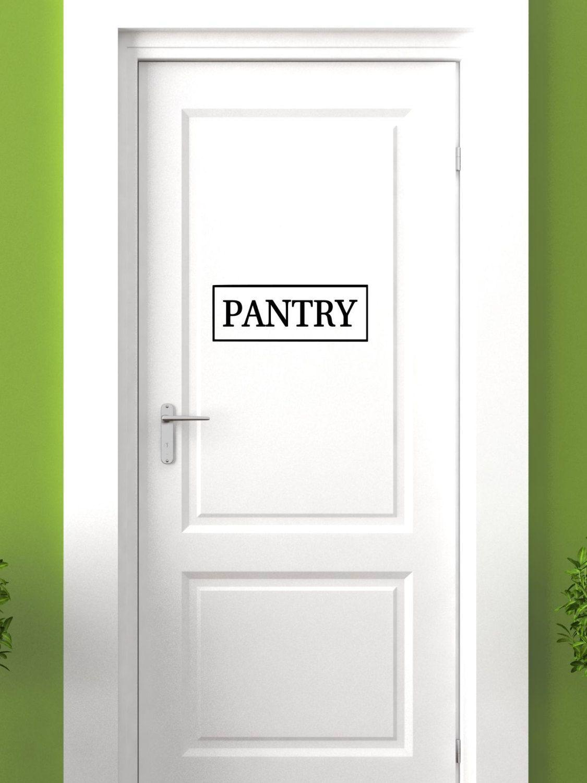 Pantry vinyl decal kitchen pantry vinyl wall art decal pantry