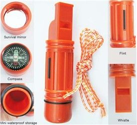 5 in 1 Survival Whistle Kit