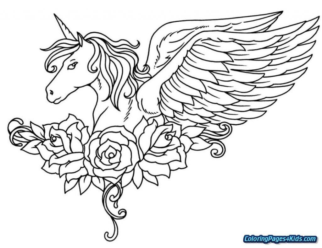 Endorsed Unicorn Coloring Pages For Kids Baby 26755 Eenhoorn Tekenen Bloemen Kleurplaten Dieren Kleurplaten