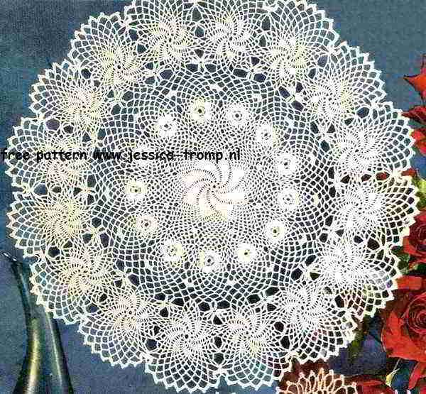 Rose of Erin doily free vintage crochet doilies patterns | Napperons ...