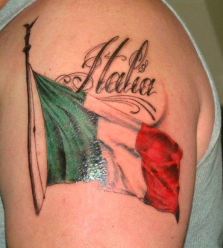 italian flag tattoo pictures tattoo ideas pinterest tattoo italian tattoos and tatoos. Black Bedroom Furniture Sets. Home Design Ideas