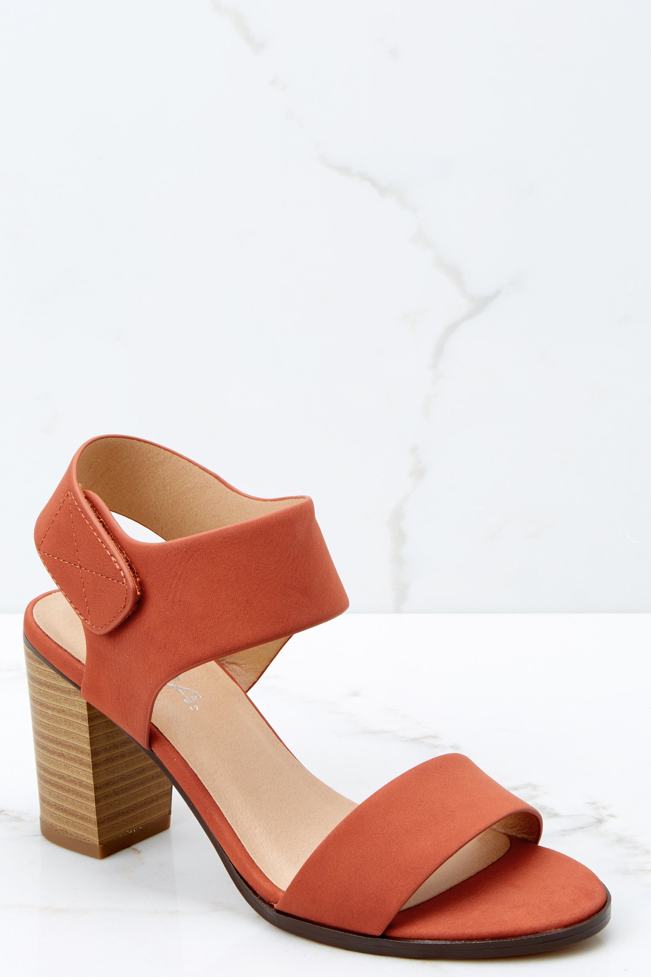 db6761df3040a8 Chic Rust Ankle Strap Heels - Trendy Heels - Heels -  28.00 – Red Dress  Boutique