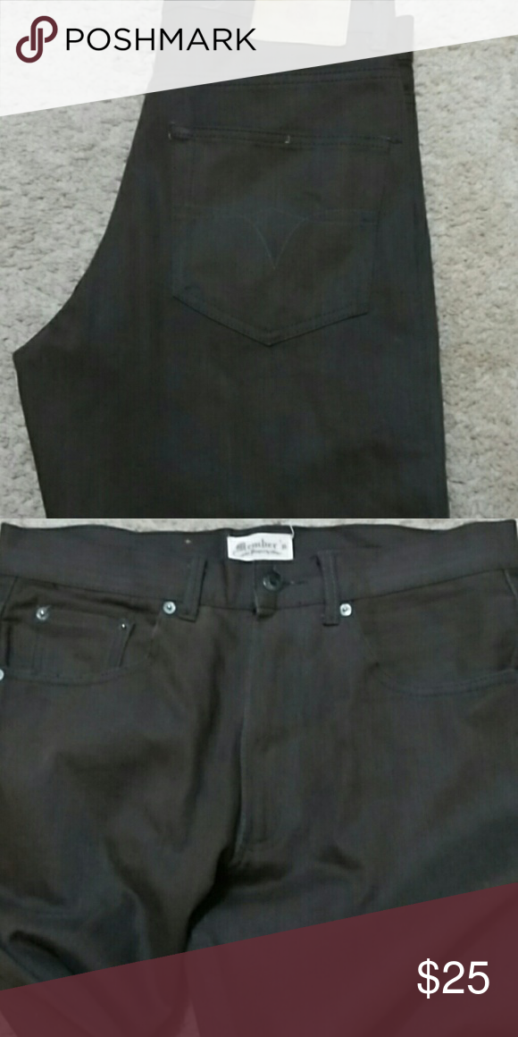 Chocolate Brown Jeans Like new only Dry Cleaned Jeans Straight