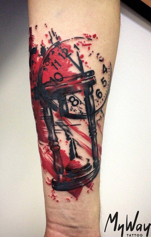 This Type Of Abstract With Color Tattoo Trash Trash Polka