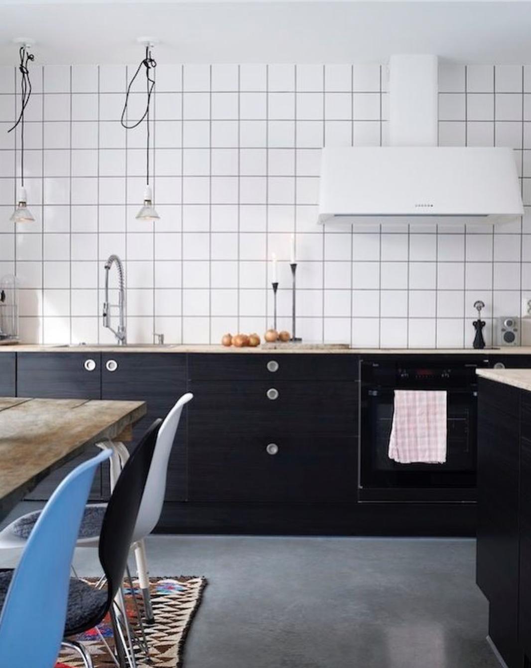 - Return Of The Square Tile Modern Kitchen, Kitchen Inspirations