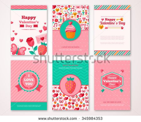 Valentines Day Poster Banner Greeting Card Flyer Menu Templates
