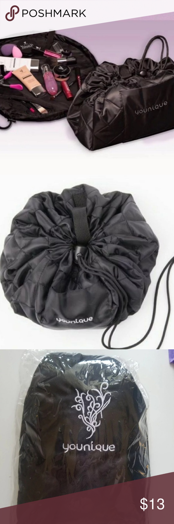 Younique Drawstring Makeup bag Makeup bag, Bags, Drawstring