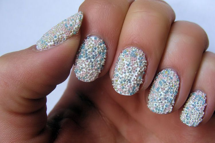 Bead Nails Beauty Is L3ve Pinterest Caviar Nails Beads And