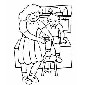 school nurse coloring page