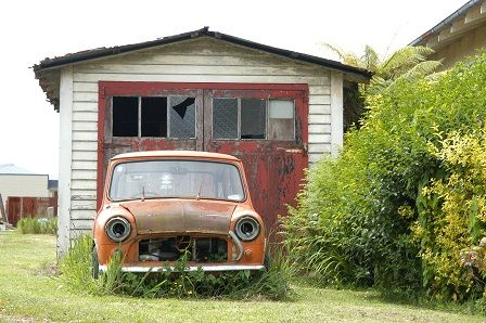 Forgotten Austin Mini Somewhere Near Fairlie South Island NZ