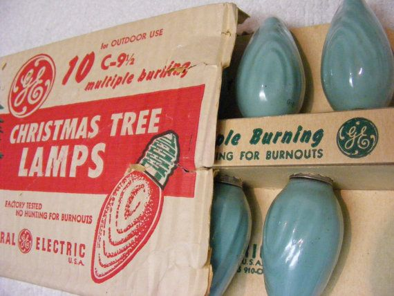 Vintage 1950s general electric christmas lights in textured vintage 1950s general electric christmas lights in textured turquoise aloadofball Image collections