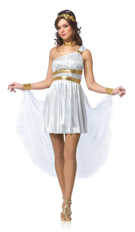 Venus Diva Adult Costume Description: Love is in the air! The goddess of love and all things beautiful is here to shine her light on the world! Your lovely