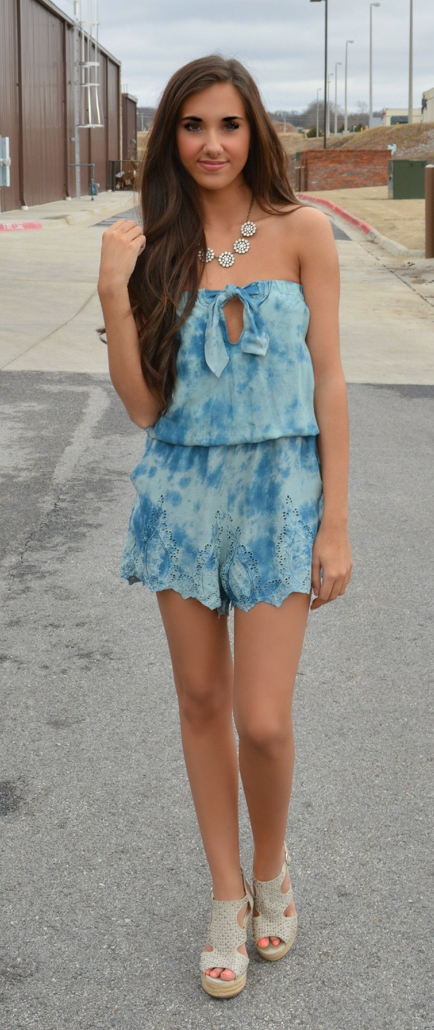 Cloudy with a chance of fabulous romper from haute pink boutique