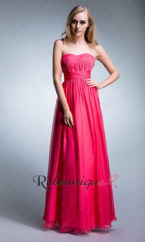 Bustier Robe De Soiree Longue Rose A Paillettes Ruc040 Robe Soiree