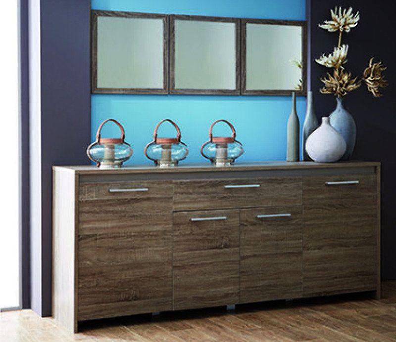 Sideboard STEEN - Montana Eiche grau - 200x87 cm Jetzt bestellen - wohnzimmer eiche grau