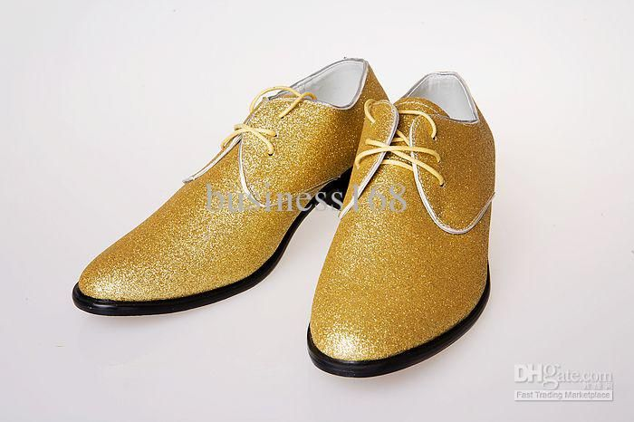 0cd3171e29a Gold High Quality Lace Leather Shoes Men s Wedding Shoes Porm Shoes Dress  Shoes Online with  27.15 Piece on Business168 s Store