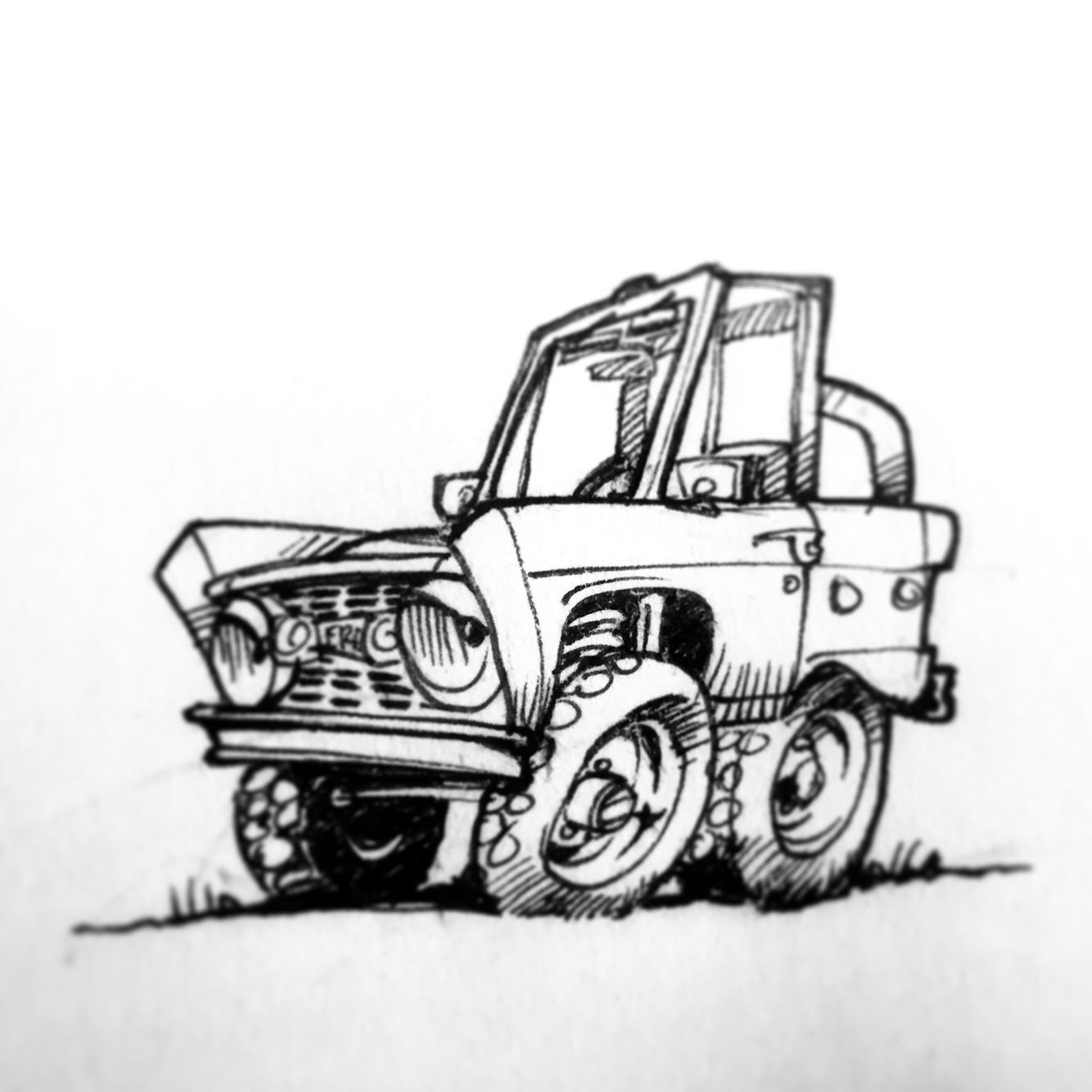 A Little Bronco Cartoon I Penned Classic Bronco Classic Ford