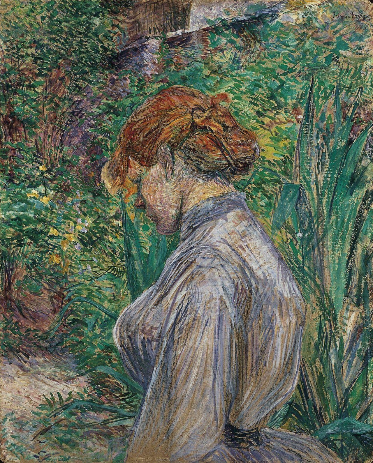 Carmen Gaudin Femme Rousse dans le Jardin de Monsieur Forest