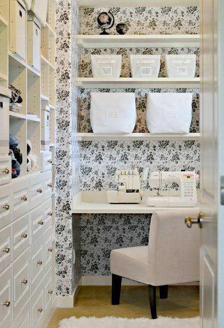 Contact Paper Used As Wallpaper Diy Master Bedroom Closet Closet Bedroom Diy Closet