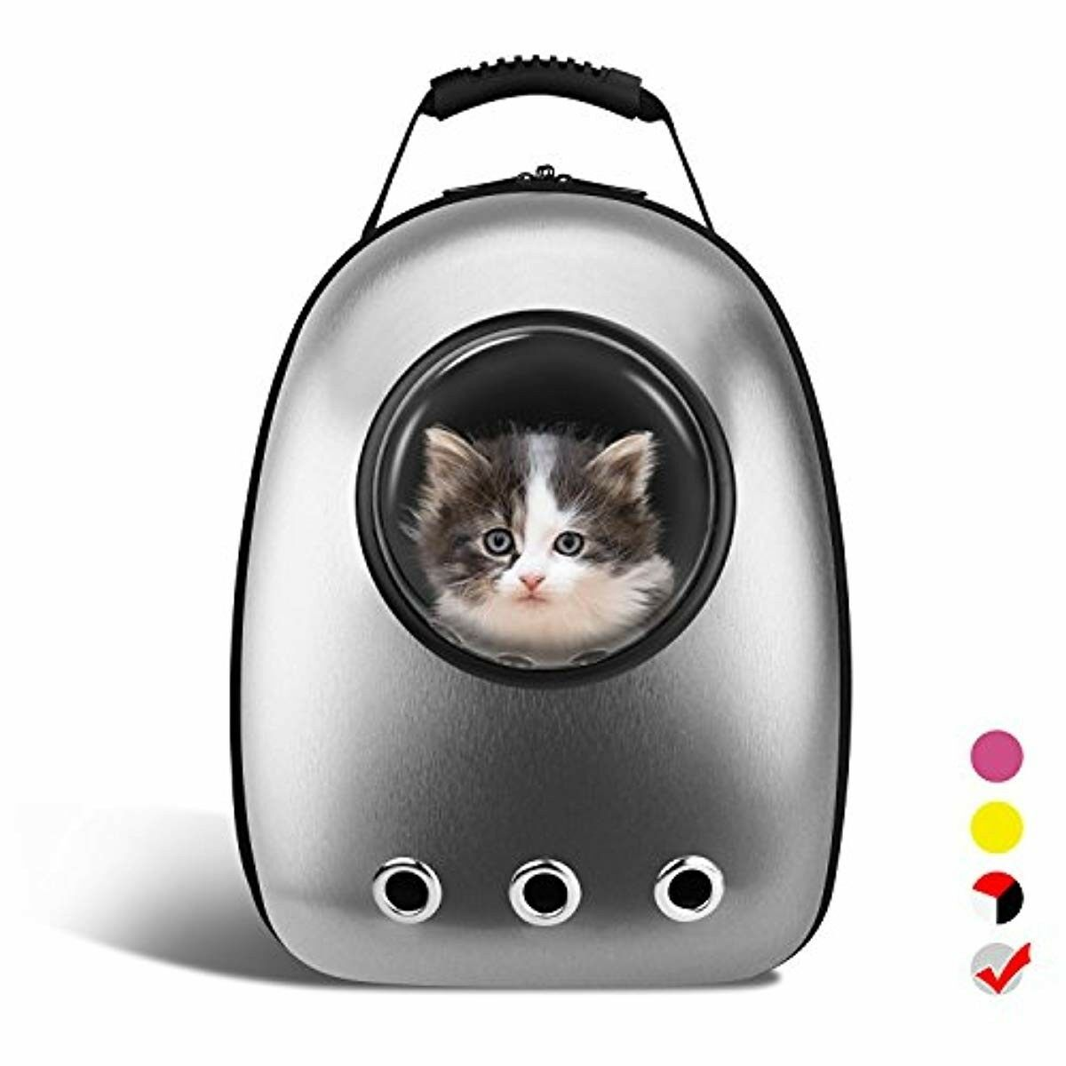 1ab3be79f9 Breathable Pet Travel Backpack Space Capsule Carrier Bag Cat Dog Puppy Made  of high quality oxford cloth& food grade PC, scratch-resistant and durable.