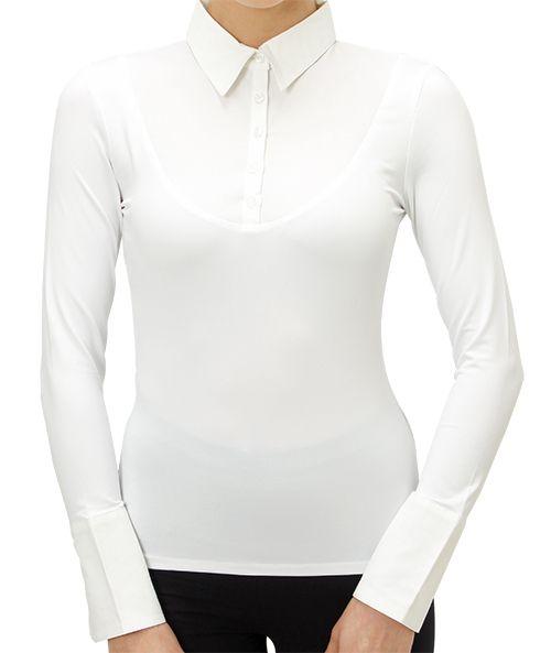 SkinnyShirt Long-Sleeve in White