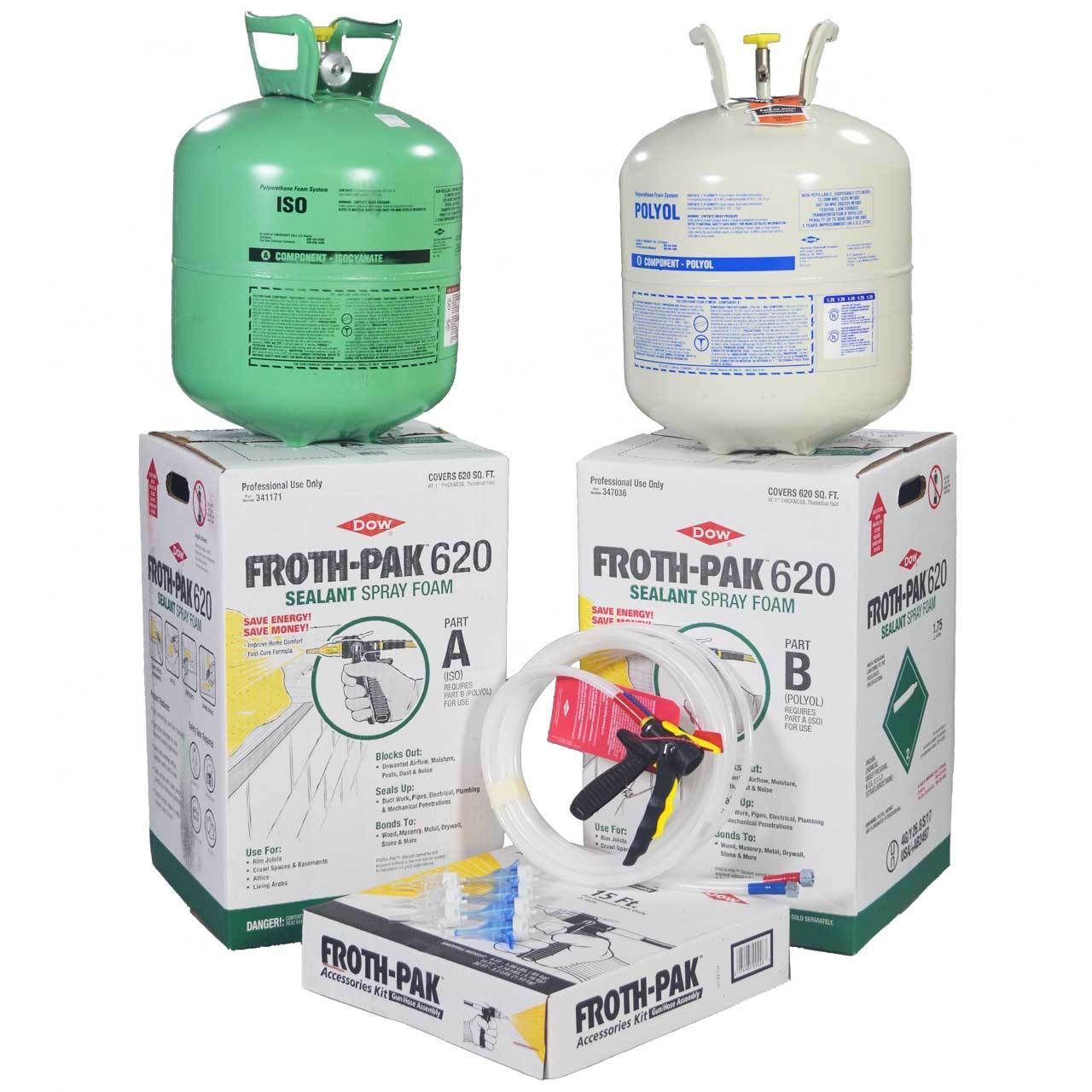 Spray Foam Insulation Kit Dow Froth Pak 620 620bf Froth