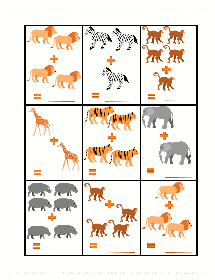 Safari Animals Addition Cute Clip Art Easy Math And Just General Zoo Animal Fun Safari Animals Preschool Zoo Animals Preschool Activities Animal Worksheets