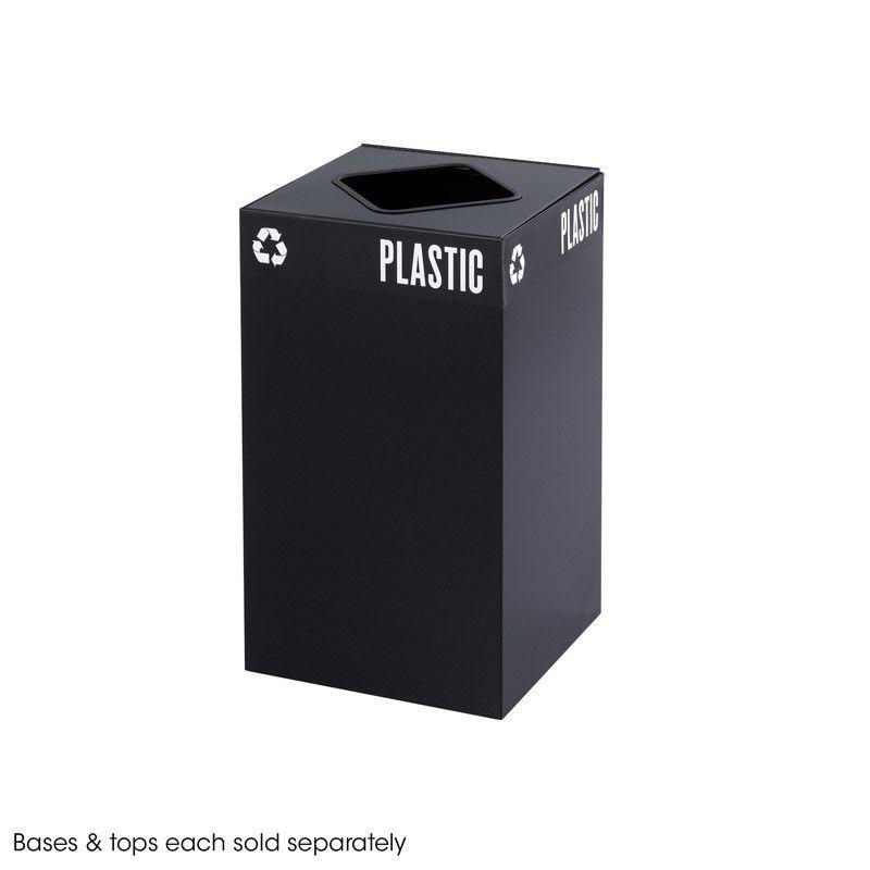 Safco 2981BL Public Square® Black Base, 25-Gallon