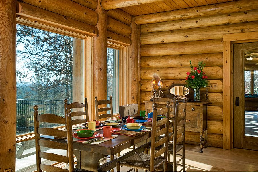 Log Home Photos | Poplar Bluff Home Tour › Expedition Log Homes ...