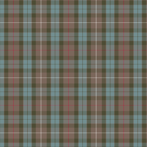 """half-scale authentic Fraser hunting tartan, in weathered colors. Wallpaper version is full sized (6"""" repeat).    Other Fraser tartans and scales can be found here.  Even more tartans can be found here.  Want a different tartan?  Leave a comment or Spoonflower-mail me!"""