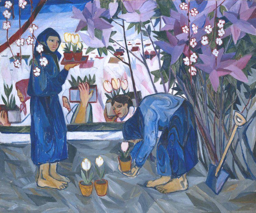Natalia Goncharova And Rayonism Art Russian Art Painting
