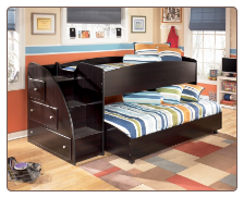 "The dark finish and simplified contemporary design of the ""Embrace"" youth bedroom collection creates a sleek stylish collection that any child would love to have within their bedroom decor."