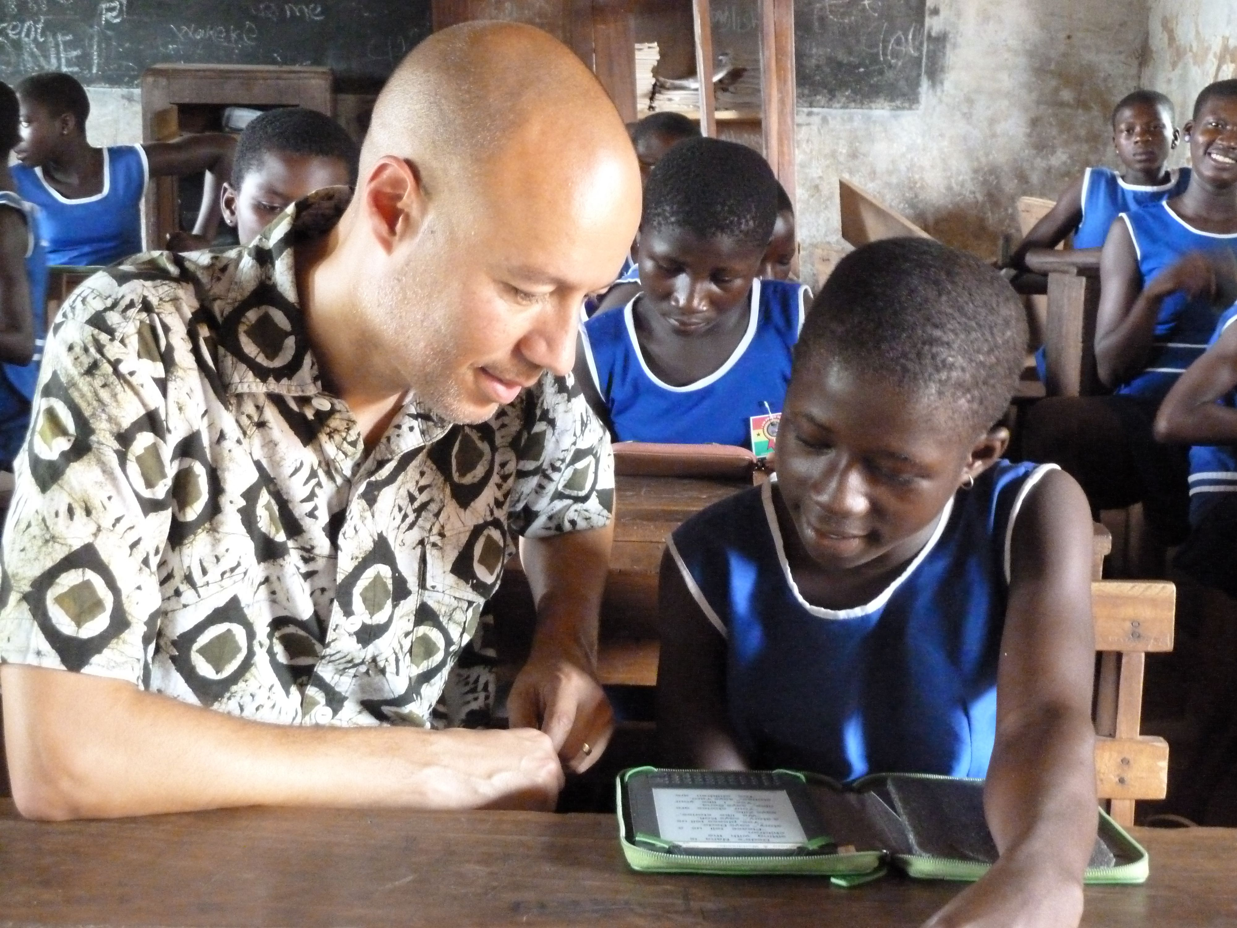 Mobile phones used for education and to improve literacy