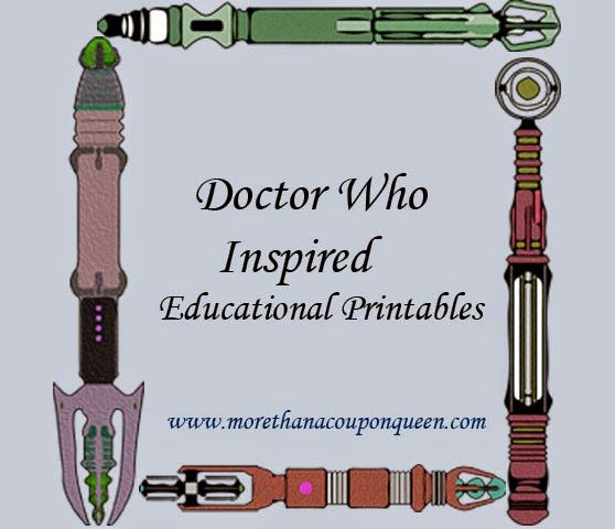 More Than A Coupon Queen Free Doctor Who Themed Printables Educational Printables Doctor Who Doctor
