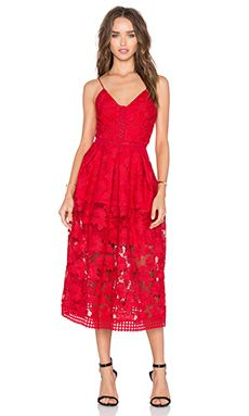 Nicholas Fl Lace Rouleau Ball Dress In Hibiscus Red