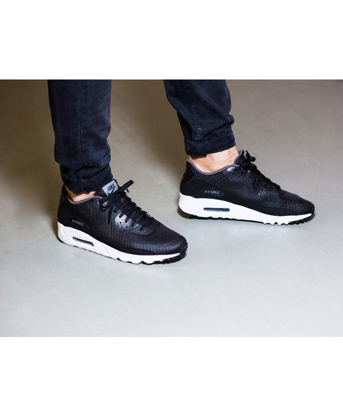 sports shoes 5abe6 0ff81 Nike Air Max 90 Ultra Essential Black White Shoes Sale